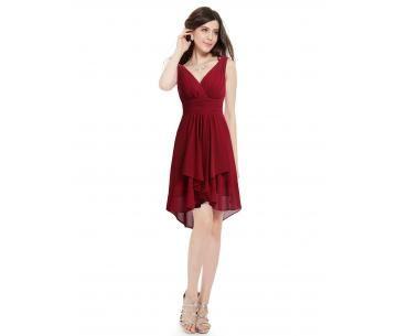 Rood feestjurkje. Ideaal jurkje voor als je te gast bent op een bruiloft.