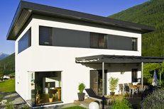 Grundriss - 06 - Cubus - Unsere Häuser im Überblick. Finden Sie den Haustyp der zu Ihnen passt. - Fertighäuser - Fertighaus von WOLF Haus Deutschland, Fertighaus, Hausbau, Energiesparhaus, Fertighaushersteller