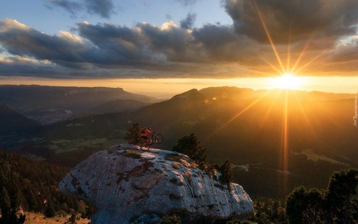 Góry, Wschód słońca, Rower