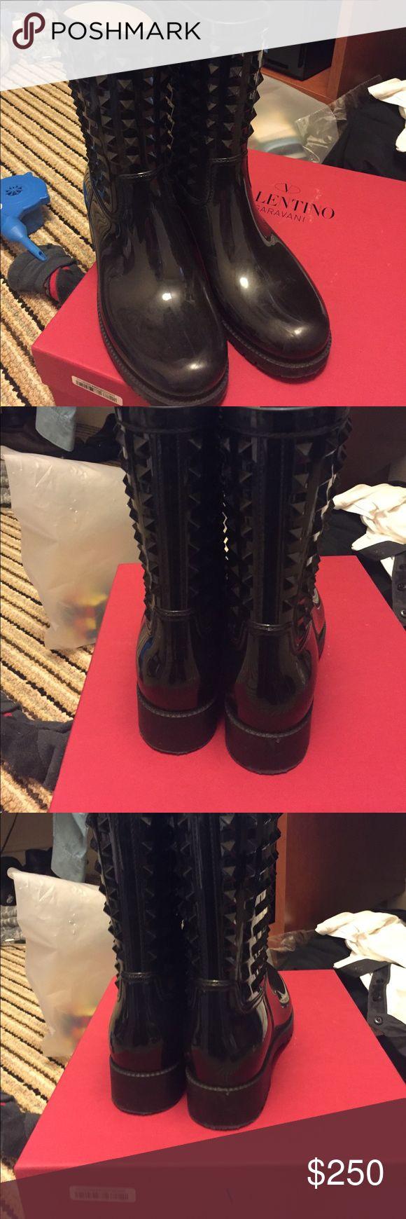 Genuine Valentino rain boots Valentino rain boot. Great condition Shoes Winter & Rain Boots