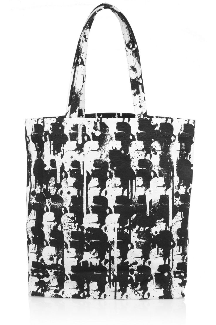 Camo-print coated-canvas tote by Karl