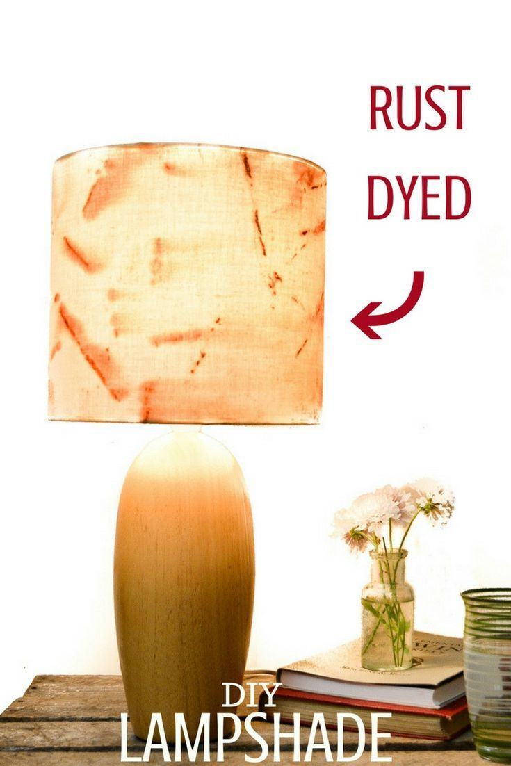 How to make a fabric lampshade cover - Rust Fabric Lampshade - vicky myers creations