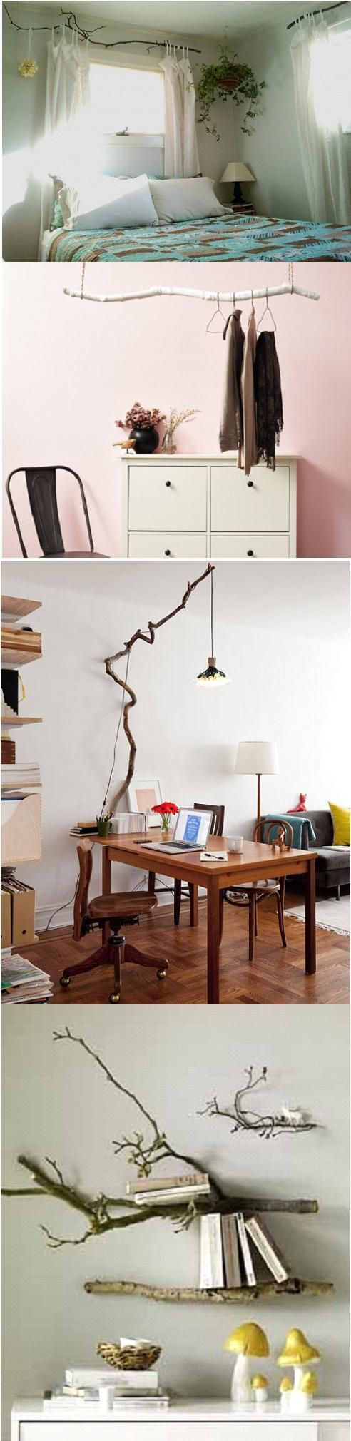 Decorating with tree branches #diy                                                                                                                                                                                 More