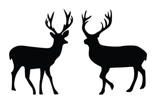 Two deers added to this free Deer Silhouette Vector best suits for special Christmas day vector graphics. Useful to design Sanata sleighs in greeting ca