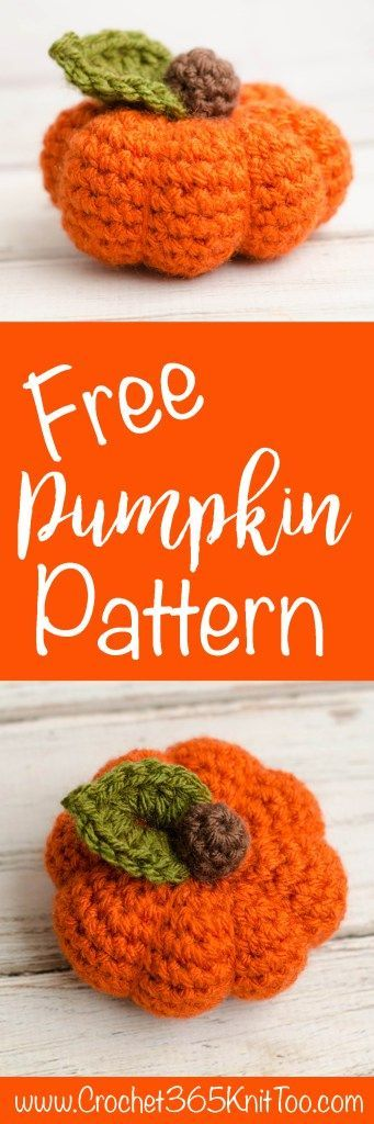 I love this small crochet pumpkin. Easy and so cute!