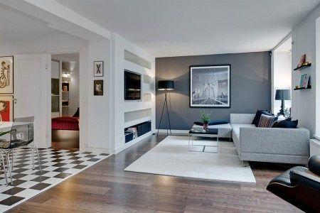 Galleria foto - Dipingere il soggiorno di grigio Foto 29