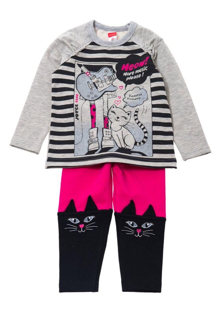 Joyce παιδικό εποχιακό σετ μπλούζα-παντελόνι κολάν «More Music»  €12,00