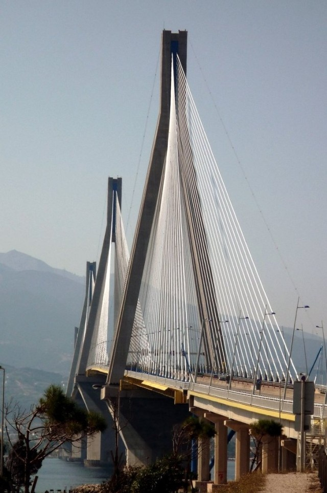 The Rio-Antirio bridge in Greece