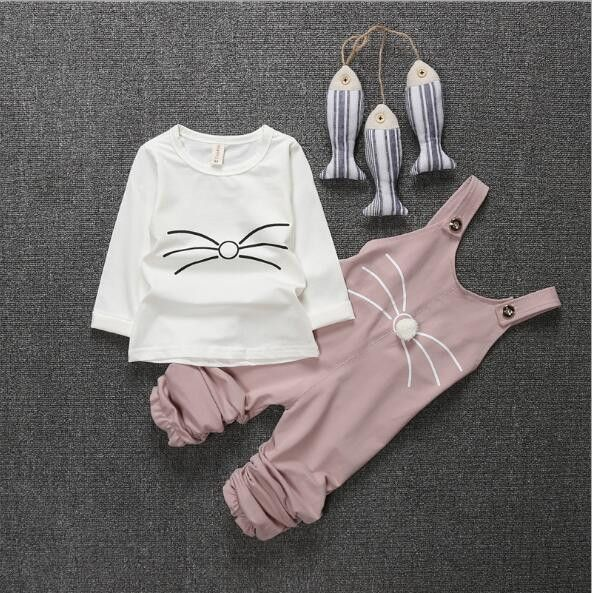 My Whiskers Overall & Shirt Outfit Set