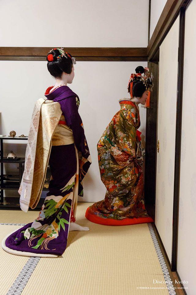 A maiko and oiran