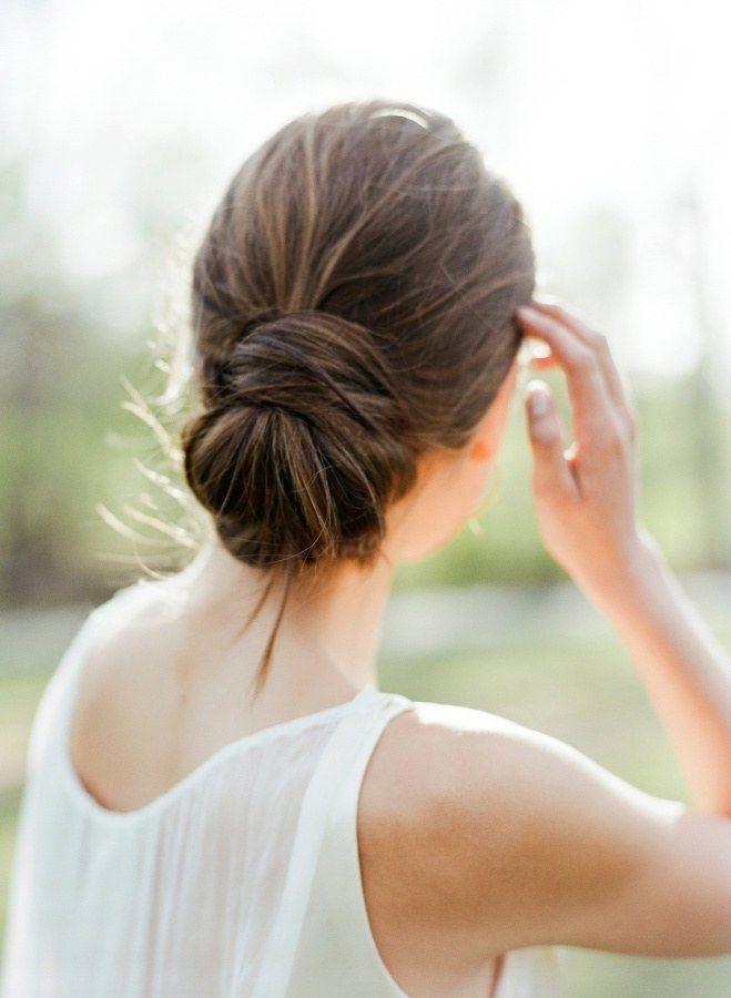 Minimalist Wedding Hairstyles for Modern Brides | via @brides