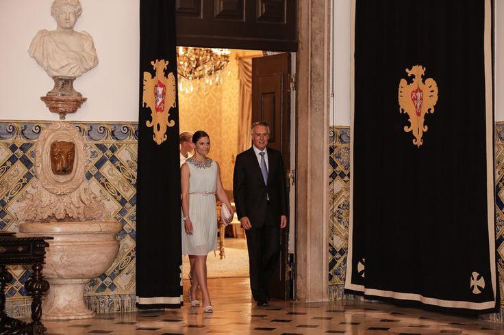 A princesa reuniu-se com o Presidente da República no Palácio de Belém.