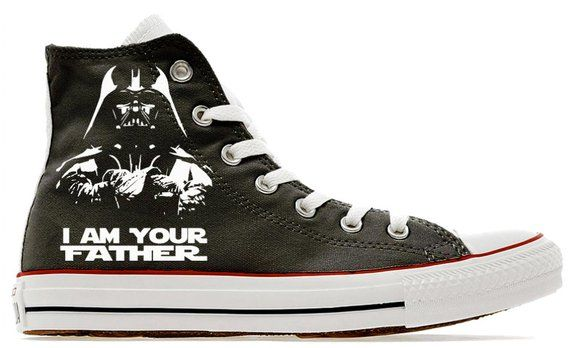 1944ac8789680d I am your father darth custom printed fathers day gift converse ...