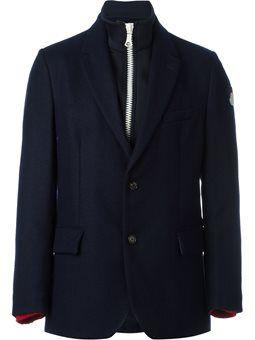 buttoned layer effect blazer