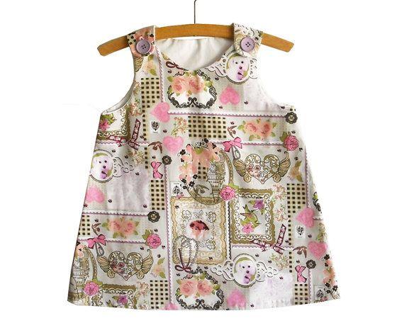 A Line Dress Pattern Tutorial/Toddler dress by KokoPattern on Etsy, $4.00