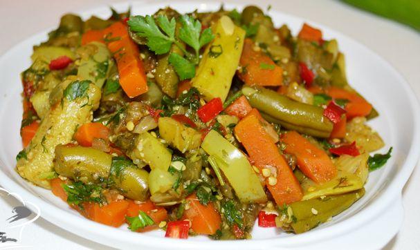 Салат стручковая фасоль морковь