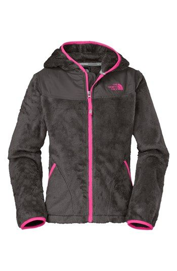 The North Face 'Oso' Hooded Fleece Jacket (Little Girls & Big Girls) available at #Nordstrom