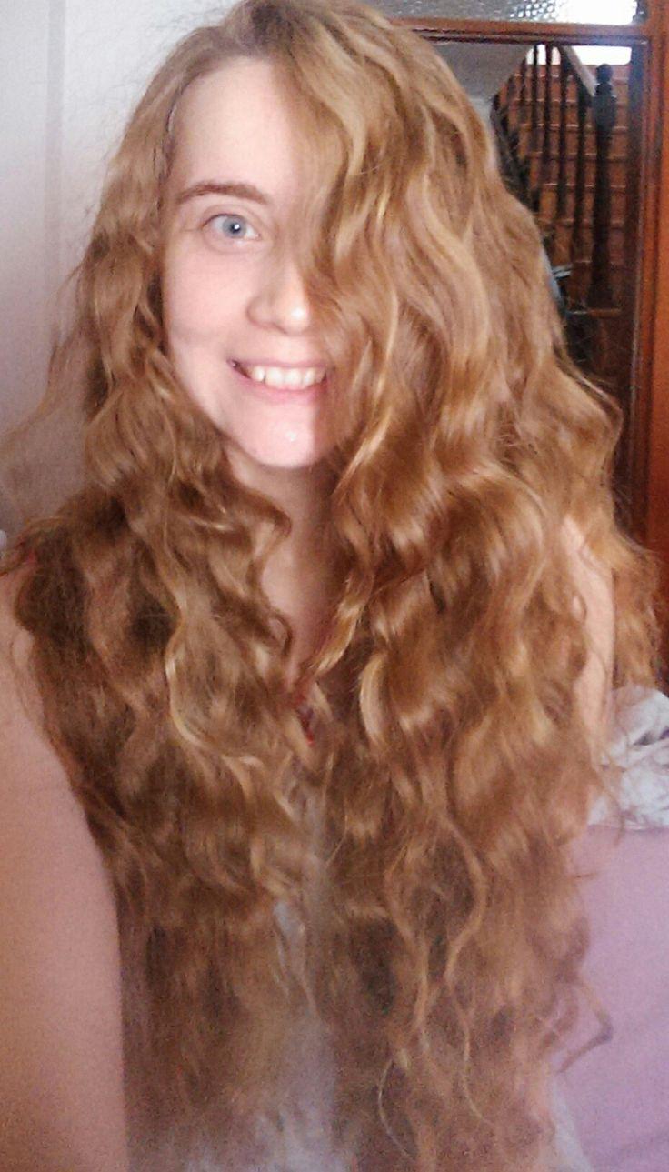 After braid. No filter yes sunshine. Natural blonde