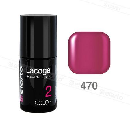 Lakier hybrydowy Lacogel nr 470 - różowy ciemny 7ml #elarto #lacogel #różowy #ciemny