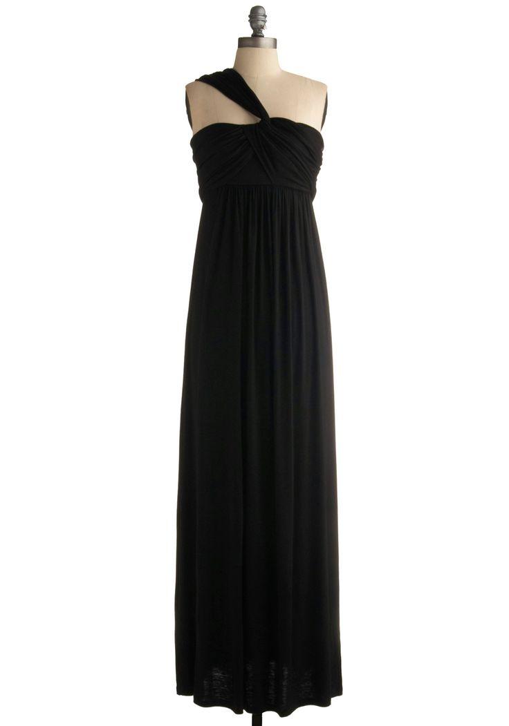 Simple and beautiful, yet elegant      Demeter Maxi Dress in Black | Mod Retro Vintage Printed Dresses | ModCloth.com