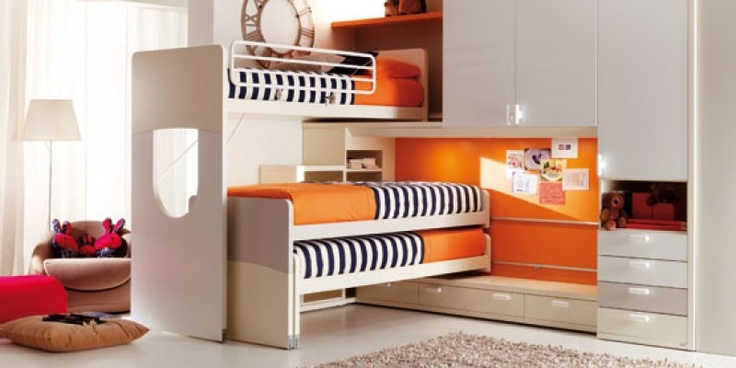 Clever design.  Three beds...