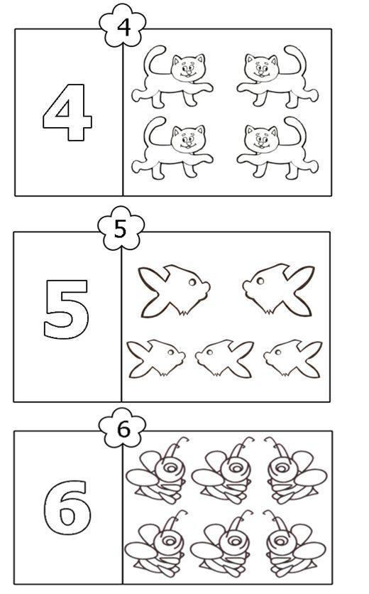 colorează şi numără 4-6