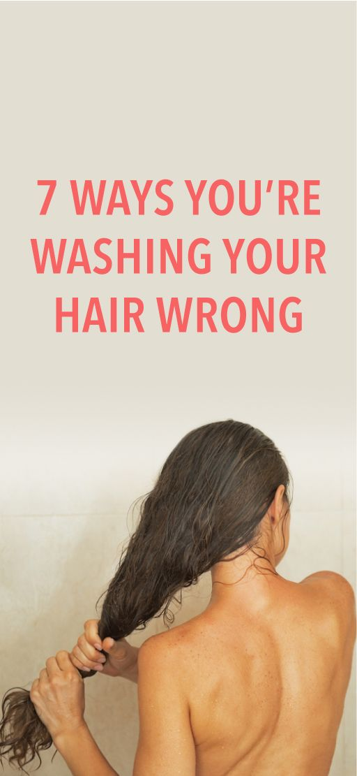 7 mistakes you're making when washing your hair