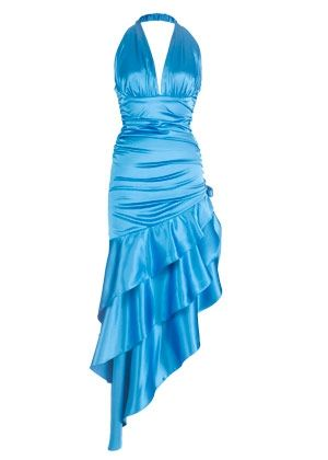 If you want to be a little more sexy and sassy this is the perfect prom dress for a blond. the color and hair match beautifully!