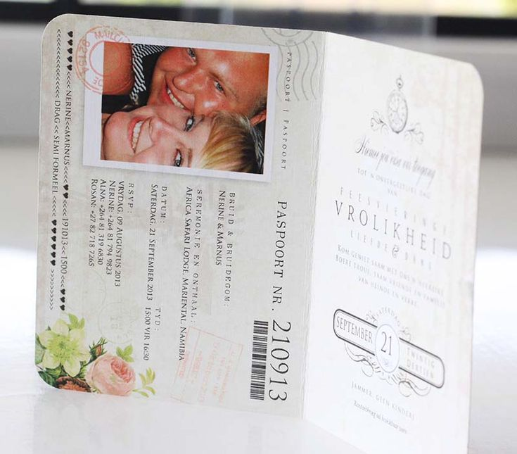 Wedding Invitations | Wedding Stationery | South Africa | Secret Diary | Passport Invitation – Narine and Marnus