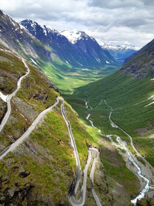 Trollstigen. Terrifying to drive on because its always thick with fog. You see a few meters in front of you which is scary when you know you're approaching those deadly turns.