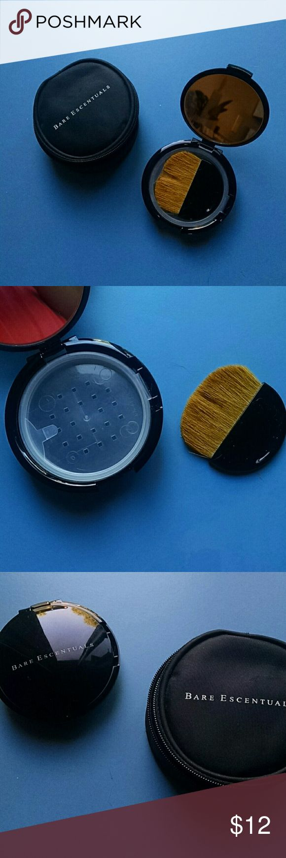 Bare essentials compact Comes with brush and carrier case. Place for any loose powder Bare Escentuals Makeup Brushes & Tools