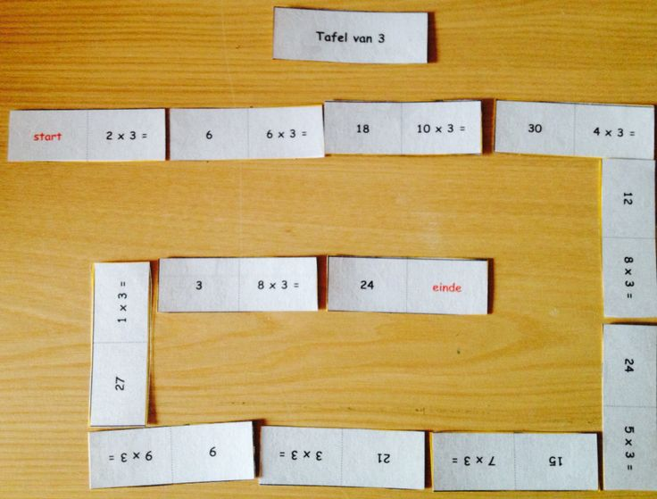 Domino-spel van de maaltafel van 3! Leuke manier om de maaltafels te leren!