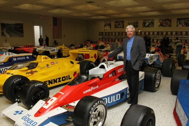 Rick mears with his 1979 indy 500 winner by for Indianapolis motor speedway com