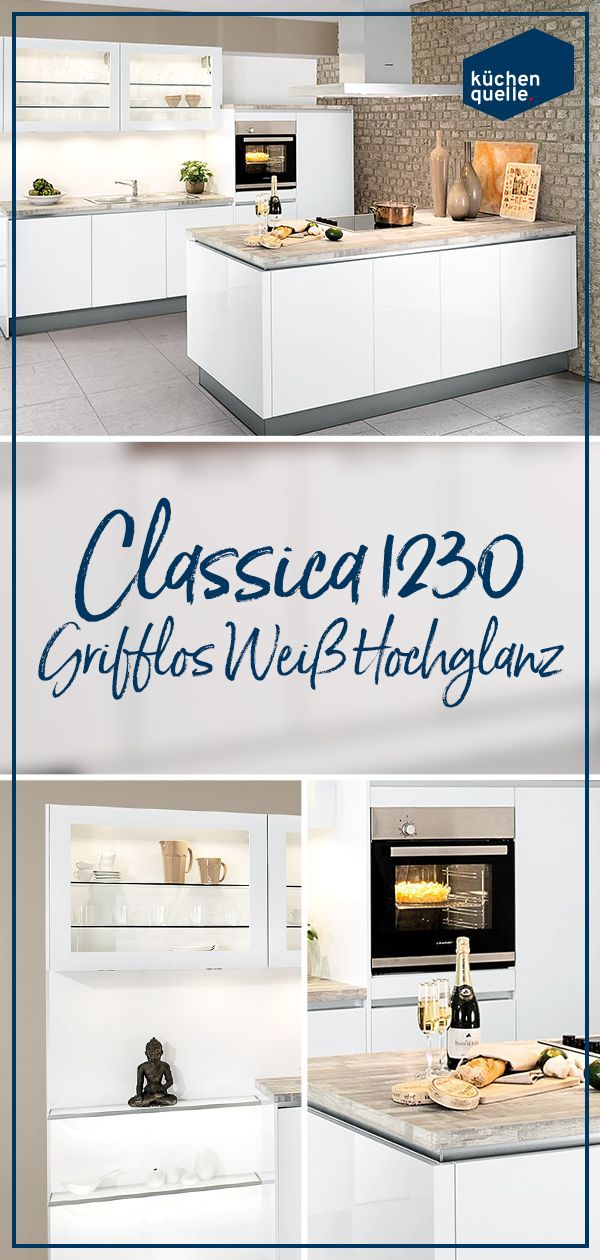 Ein Traum In Weiss Die Einbaukuche Classica 1230 Grifflos Weiss