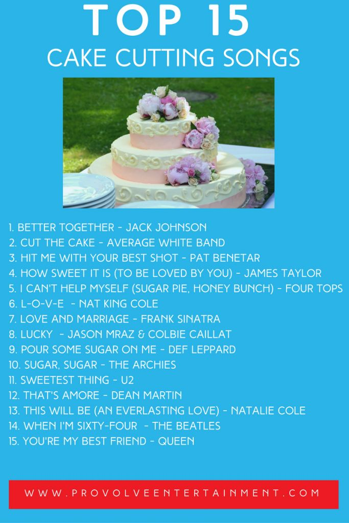 The Cake Cutting is a special part of the wedding reception. Learn the best songs to play during the cake cutting!