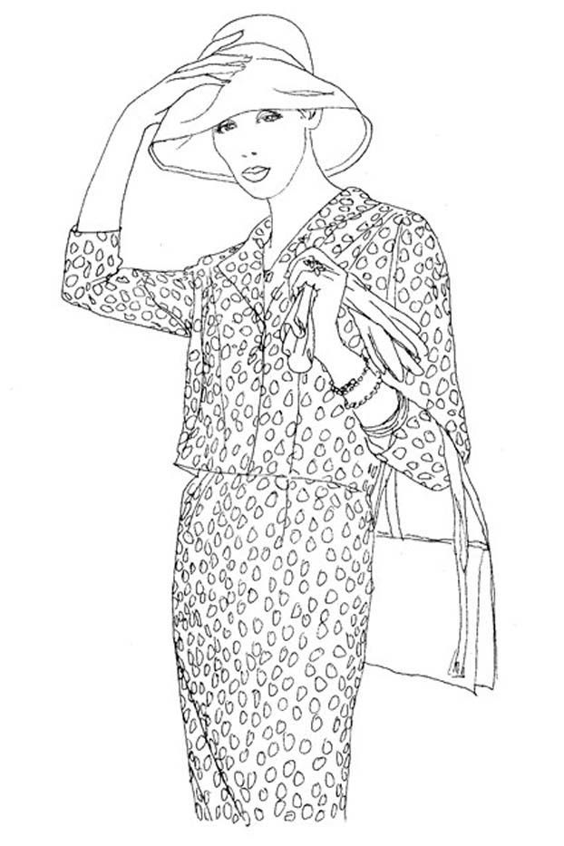 Vogue Wants You To Start Coloring Again Fashion Coloring Book