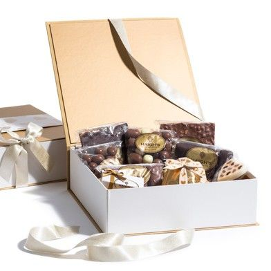 Large Gold Hamper Box - completely spoil the one you love. #ValentinesDay #HaighsOnline