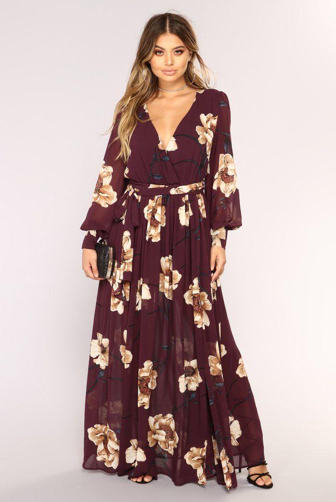 4713bbe891d4 Park Avenue Maxi Dress - Plum in 2019 | Fashion Nova | Dresses ...