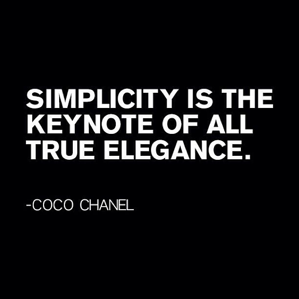 #Fashion #Quotes #Icons | Simplicity | Pinterest