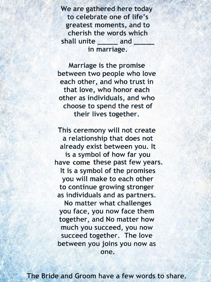 My Non-Religious, Short and Sweet Wedding Ceremony Script par 1. wedding vows…