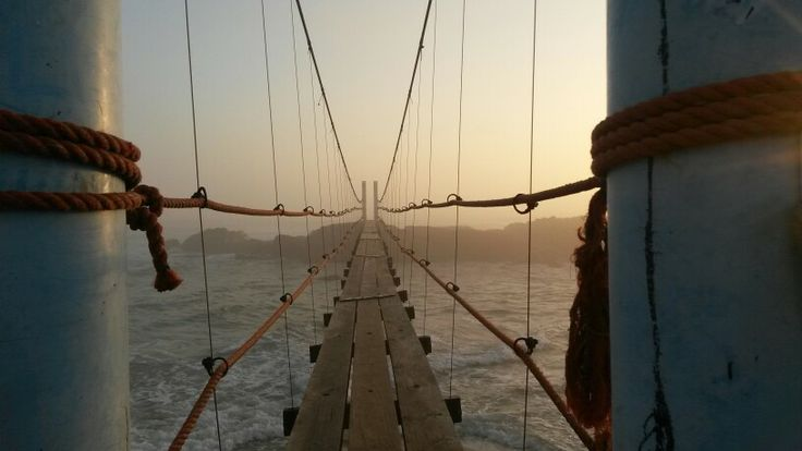 Mazeppa Bay Bridge at sunset