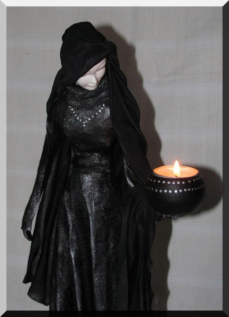 the woman with a candle, powertex