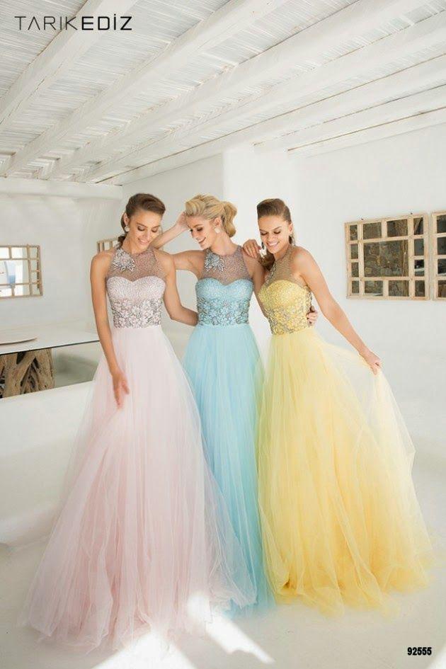 Exclusivos diseños de vestidos de primavera para fiesta 2015