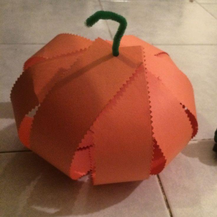 Paper pumpkin | Toddler Things