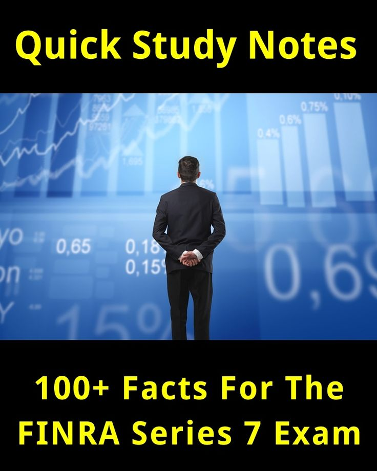 100+ Facts for the FINRA Series 7 Exam. Quick Study Notes. #stockmarket #stocks #Series7 #testprep #exams #education