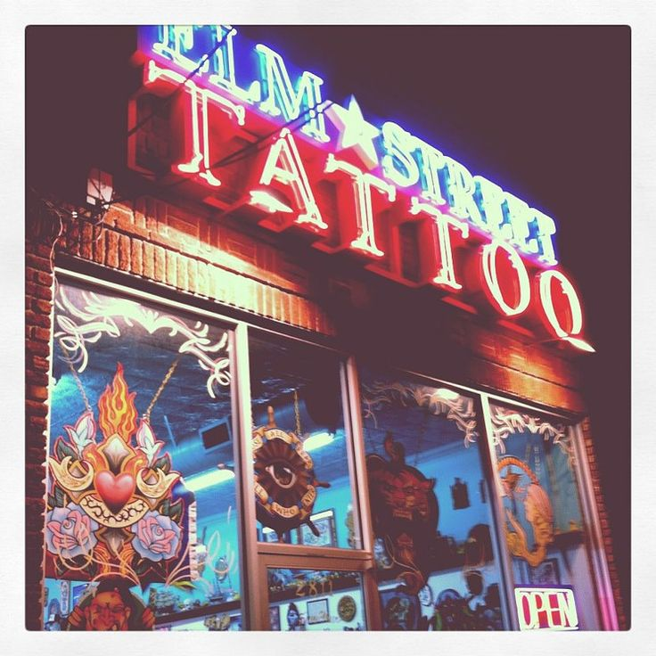 Artist Oliver Peck's Elm Street Tattoo, definitely a place to try your luck.