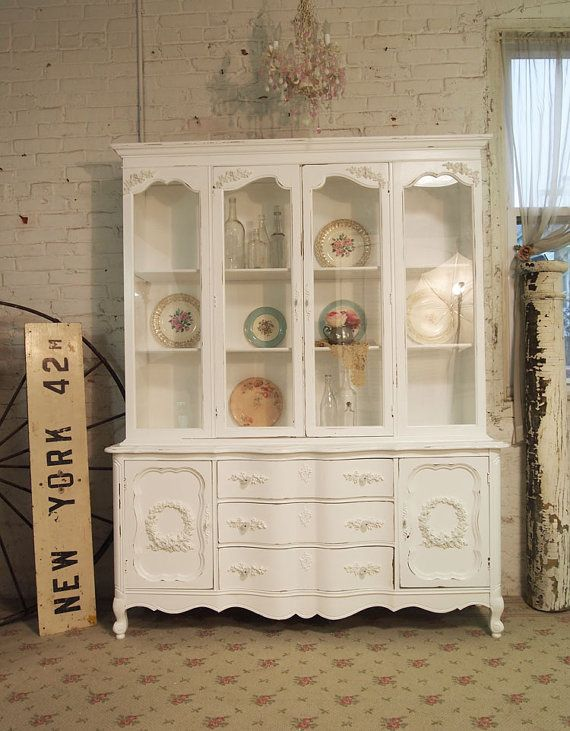 Painted Cottage Romantic Shabby White Vintage by paintedcottages, $695.00