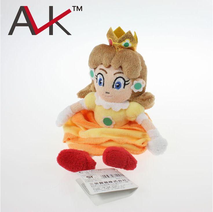 Бесплатная Доставка Super Mario Игры Аниме 15 см Желтый Сб Принцесса Плюшевые Игрушки Плюшевые Игрушки Куклы