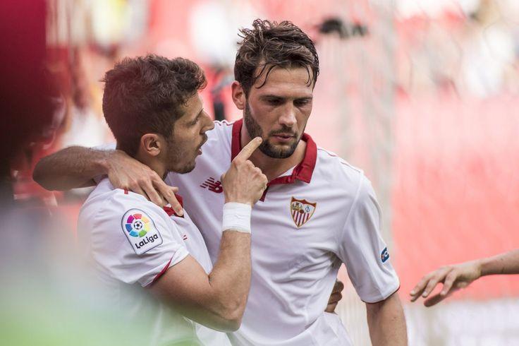 @Sevilla Stevan #Jovetic y Franco 'El Mudo' #Vazquez #SevillaFC #VamosMiSevilla #LaLiga #9ine