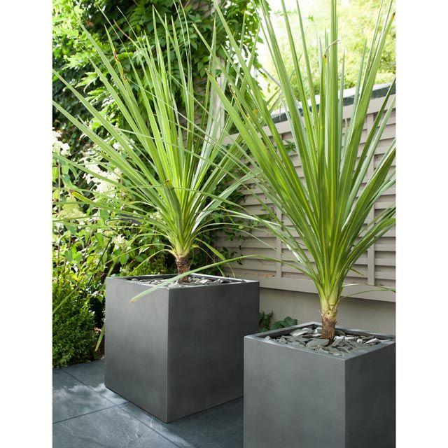 pot carr fibres d 39 argile gris 29 x 29 x cm gardening pot jardin fleurs grises et dalles. Black Bedroom Furniture Sets. Home Design Ideas